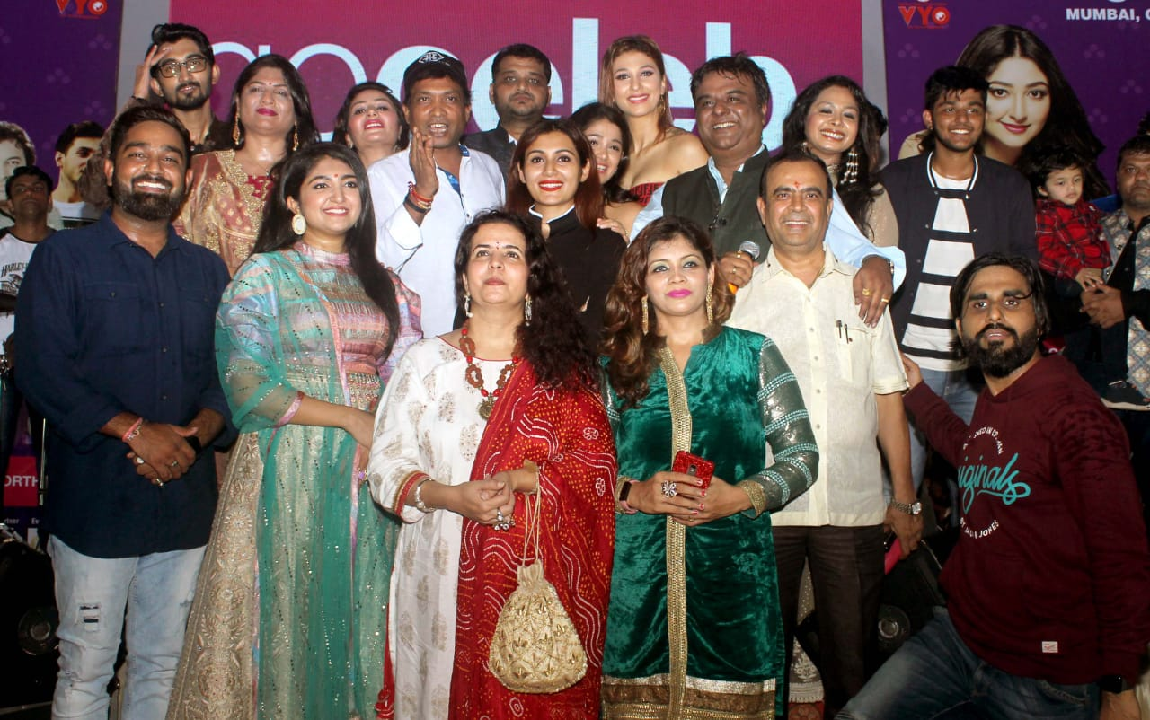 Bhumi Trivedi, Rimi Sen, Salman Ali, Aaman Trikha, Jasleen Matharu and others at announcement of 4 Navratri