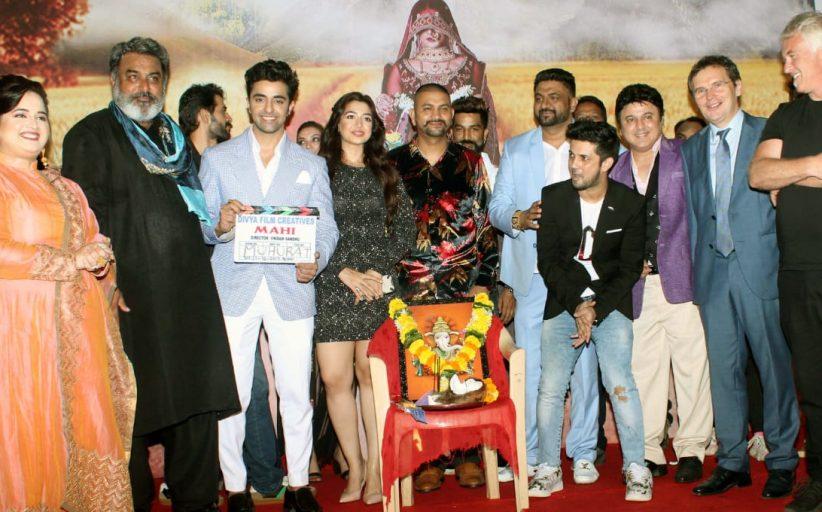 Ali Asgar, Hobby Dhaliwal, Hiten Tejwani , Anas Khan came at mahurat of Vikram Sandhu and Prabsimran Sandhu's Hindi film Mahi.