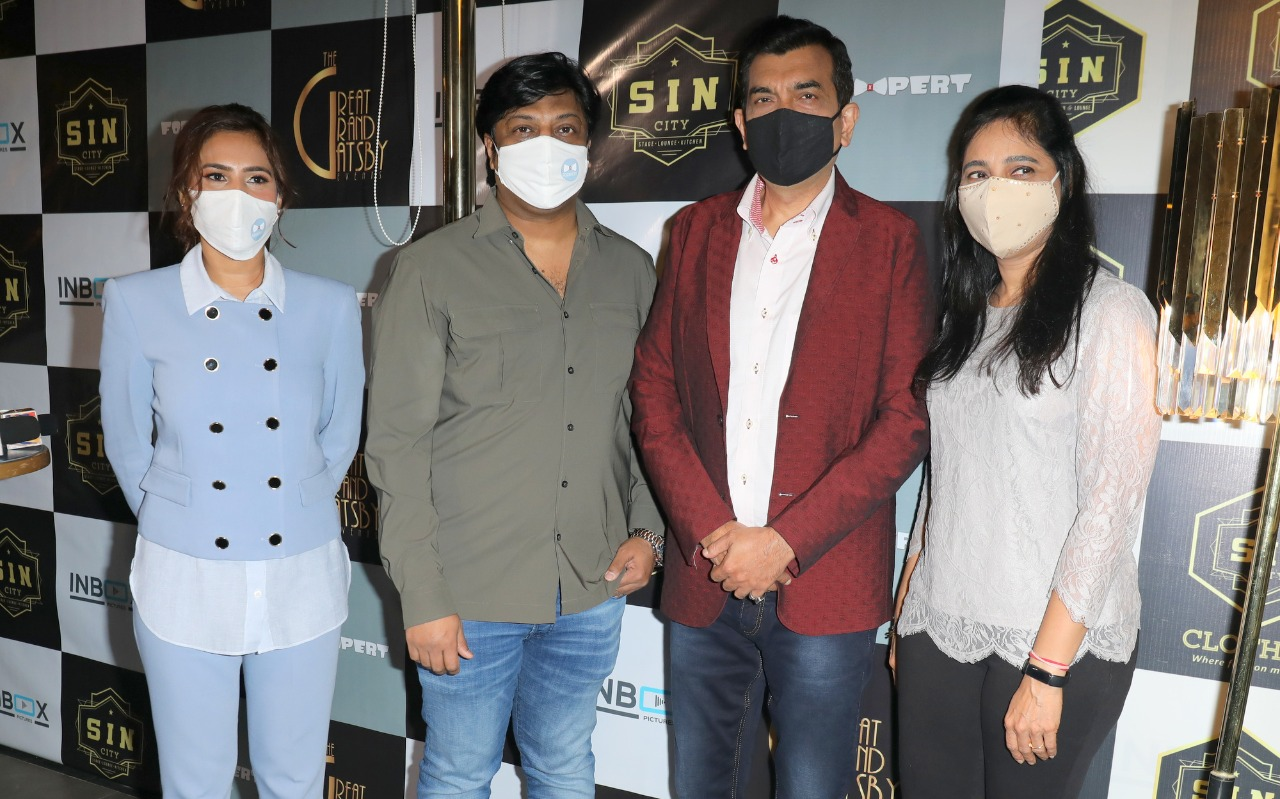 MR.SAJID QURESHI OF ROYAL RESTAURANTS AND HOTELS PROJECTS, NEW VENTURE - FODXPERT- AN ONLINE FOOD MAGAZINE LOGO UNVEILING BY ACE CHEF AND PADMA SHRI SANJEEV KAPOOR