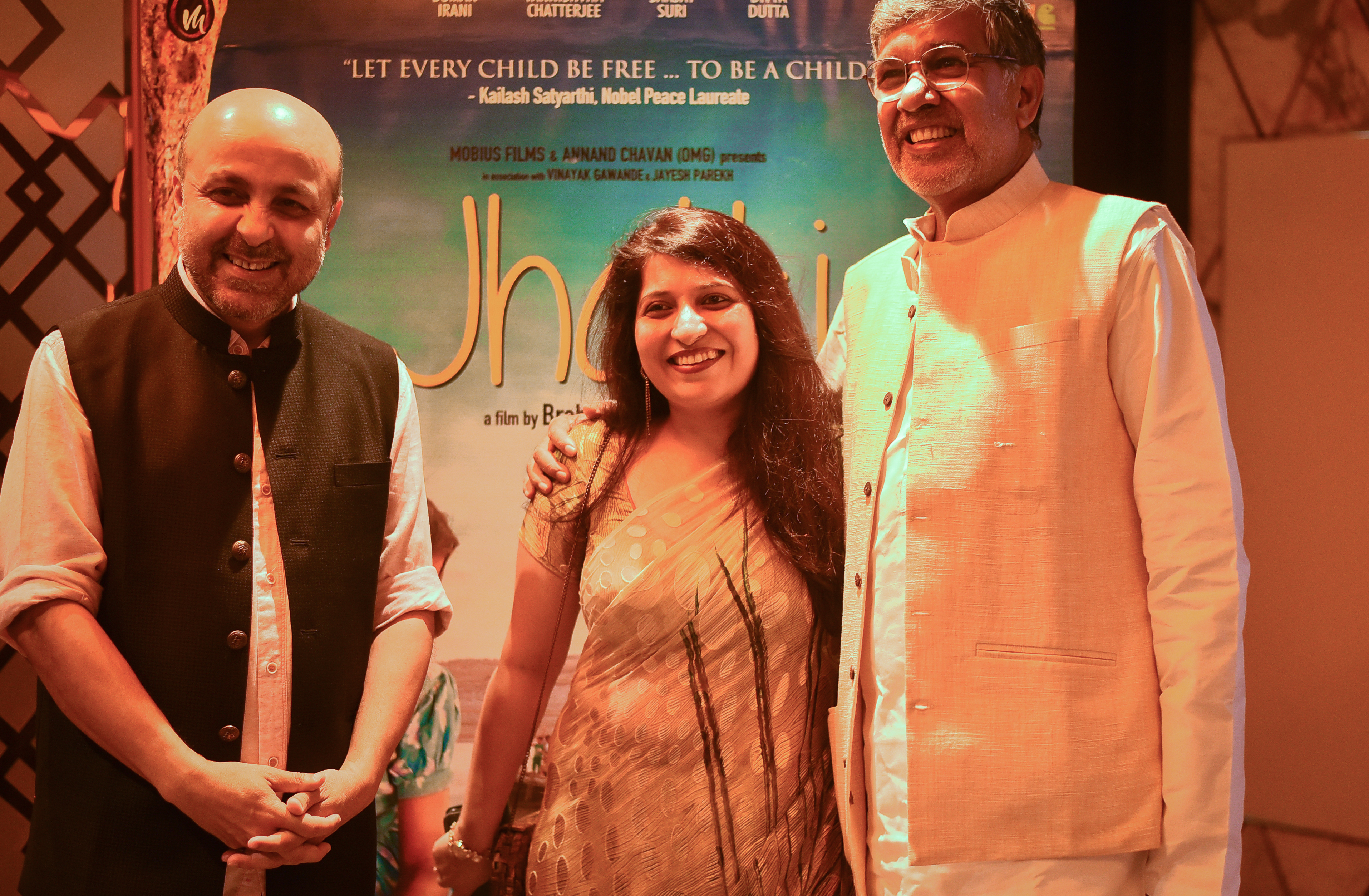 pictures from the special screening of the upcoming film JHALKI in the presence of Nobel Peace Laureate Mr. Kailash Satyarthi.